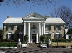 Graceland, Memphis, Tennessee.  Home of Elvis Presley.
