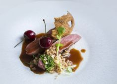 Agnar Sverrisson - Duck breast with celeriac choucroute, bulgur wheat and cherriessmall