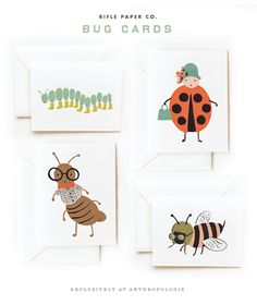 Rifle Paper Co. bug cards for Anthropologie