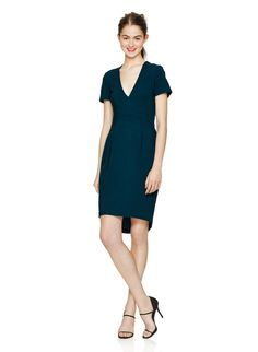 BABATON GRANT DRESS - Luxuriously tailored with stretch crepe from Italy, designed with a fluted, feminine silhouette