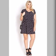 """Forever 21 PLUS Elephant Parade Dress Forever 21+ A shift dress featuring an allover elephant print. Round neckline. Short sleeves. Invisible back zipper with hookeye closure. Shirred waist. Unlined. Woven. Lightweight. Plus size XL.  100% polyester Made in Vietnam Full Length: 19"""" Forever 21 Dresses"""