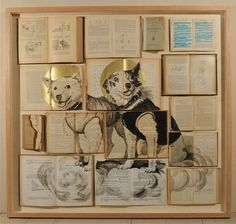 Art with old books by Ekaterina Panikanova
