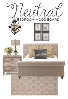 Neutral Bedroom Mood Board | Brass & Whatnots