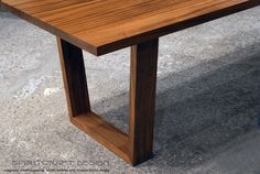 Solid hardwood dining table in slab Sapele Mahogany in Mid Century Modern style by spiritcraft interior design living and dining room furniture in Cricago area, East Dundee, Illinois