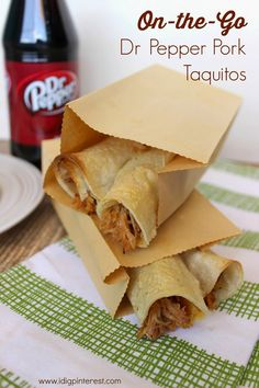 Homemade Refuel On-the-Go Snacks: Dr Pepper Pork Taquitos  SNICKERS® Krispies Treats