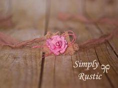 Color Choice Rustic Organic Baby Head tie by greenearthstudio