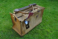 CHIC -Large Handmade Leather Duffle weekender travel bag, case