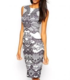 Dress with pattern vector