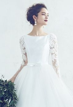 A by Hatsuko Endo - Classic Wedding Dress, Wedding Dresses, Hair Arrange, Bridal Hair, Dream Wedding, Flower Girl Dresses, Lily, Bride, Gallery