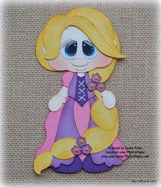 Rapunzel Disney princesa Premade Scrapbooking adorno papel