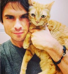 Moke the Cat with his Dad, Ian!