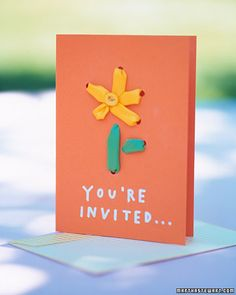 Flower party invitation