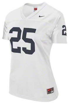 Penn State Nittany Lions Women s Nike White  25 Football Replica Jersey  Nittany Lion 4225b7cc9