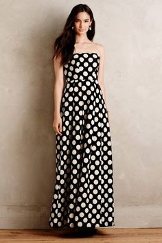 Capra Dotted Jacquard Gown by Tracy Reese | Pinned by topista.com