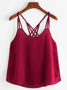 Shop Lattice Back Cami Top online. SHEIN offers Lattice Back Cami Top & more to fit your fashionable needs. Teen Fashion Outfits, Trendy Outfits, Summer Outfits, Cami Tops, Brandy Braids, Fashion News, Boho Fashion, Fashion Black, Vintage Fashion