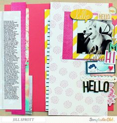 """""""Hello Hello Hello Hello Hello..."""", created by Jill Sprott using the Scraptastic Club """"Rivers and Roads"""" kit"""