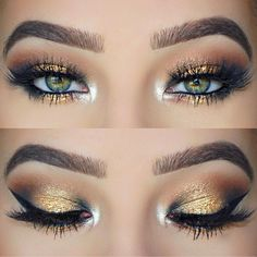 """So beautiful ✨@klaudiabadura✨ Eyes Vegas Nay Stardust palette , Millennial, Girls Night, Golden Nugget, Sin City, inner corner mac in nylon.…"""