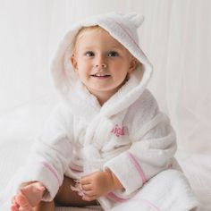 A beautiful personalised Pink Gingham Towelling Robe fit for any queen or princess! Made from 100% thick, luxurious, cotton towelling. It is detailed with a gorgeous Light Pink Gingham Trimming, Cute Bunny Ears, Front Pockets and an Elastic Drawstring Waist. The featured hood helps keep the little ones head and ears warm, wrapping them up tight after a soothing bath. Pink Gingham, Personalized Baby Gifts, Beautiful Gift Boxes, Cute Bunny, Ear Warmers, New Moms, Drawstring Waist, Mom And Dad, Little Ones