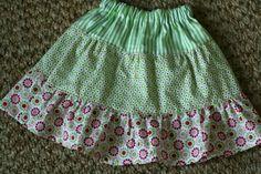 3 tier skirt for a girl.