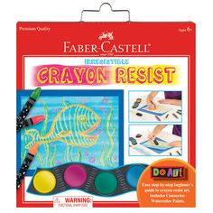 Do Art Crayon Resist by Faber-Castell - Learn how to use a crayon resist technique to make colorful artwork