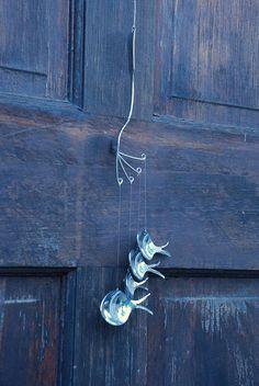 Wind chime Löffel Fisch handgemachte whimsical von Fishwindchime, $25.00