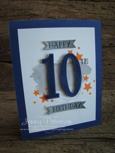 Number Of Years Bundle By Stampin Up Lakeshore Stamping Old Birthday CardsMasculine