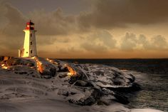 Peggy Lighthouse. Canada by Dana Prost