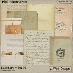 Ephemera - Set 05 By Laitha's  Designs