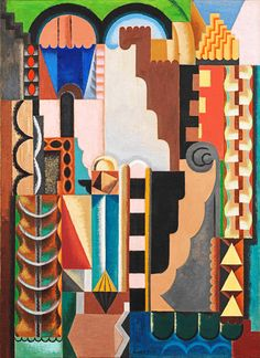 Auguste Herbin, Composition Monumentale. Auguste Herbin 1882-1960 French Cubist and later abstract painter whose work forms a bridge between the Cubist movement and post-war geometrical abstract painting. The pure geometrical shapes and positive colours of his later abstract works had considerable influence on various younger abstract painters.