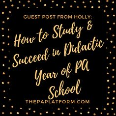 Holly has some awesome tips on how to survive didactic year of PA school. If you thought getting into PA school was the hard part, you better get ready for the didactic portion. This post is great for whether you are just getting ready to start school or already pushing through P