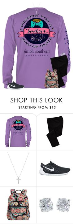 """""""finals day 1 ootd"""" by secfashion13 ❤ liked on Polyvore featuring Old Navy, Inner Circle Jewelry, NIKE, Vera Bradley and Tiffany & Co."""