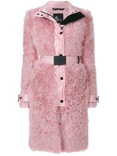 Купить Moncler Grenoble пальто с отделкой под овчину.