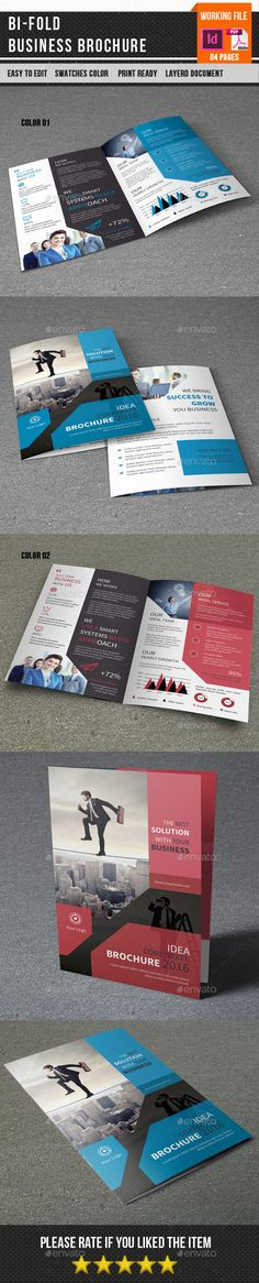 Corporate Bifold Brochure Template InDesign INDD. Download here: http://graphicriver.net/item/corporate-bifold-brochurev377/15450482?ref=ksioks