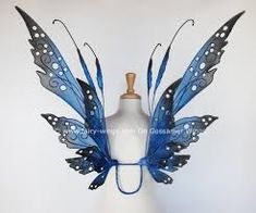 The Elizabeth fairy wings in blues and black by On Gossamer Wings Halloween Fairy, Group Halloween Costumes, Diy Costumes, Halloween Ideas, Costume Ideas, Black Fairy Wings, Fairy Costume Diy, Gossamer Wings, Fairy Clothes