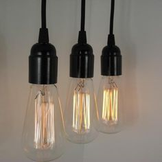 Pendant lights for over bar from trainspotters.co.uk - love the Swiss design bulbs!