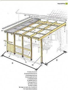 The wooden pergola is a good solution to add beauty to your garden. If you are not ready to spend thousands of dollars for building a cozy pergola then you may devise new strategies of trying out something different so that you can re Diy Pergola, Pergola Metal, Pergola Aluminium, Deck With Pergola, Outdoor Pergola, Pergola Shade, Patio Roof, Backyard Patio, Gazebo