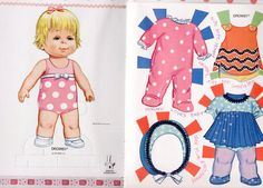 """Vintage Whitman/Mattel #1964 DROWSY """"A CUDDLY PAPER DOLL"""" book 1973 uncut/unused"""