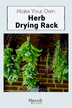 Make this simple drying rack for fresh herbs with just a few supplies. Use the dried herbs for cooking or crafts. Or just enjoy the farmhouse look of hanging dried herbs anywhere in your home.