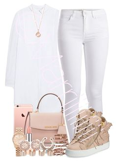 White And Rose Gold by marriiiiiiiii on Polyvore featuring polyvore fashion style Mulberry Pieces Giuseppe Zanotti Michael Kors Givenchy Plukka Maison Margiela Astley Clarke clothing