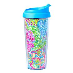 Pattern: Lover's Coral Now you can take your cup of joe to go in one of these colorful thermal mugs. Because it's patterned both inside and out, the more you drink the cuter your mug gets! The new and