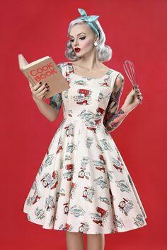 Magnifique robe pin up année 50 idée quelle robe rockabilly cooking