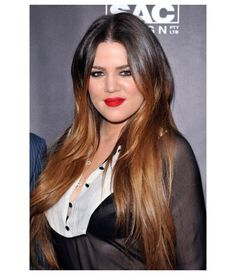 Khloe Kardashian Silk Straight Remy Human Hair Ombre Color Lace Wig. SKU: CL0406. Coupon code: PIN10