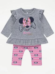 Dress Outfits, Girl Outfits, Stylish Little Girls, Baby George, Latest Fashion For Women, Cute Babies, Minnie Mouse, Leggings, Asda