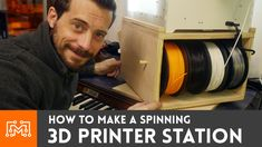 See how I made a spinning stand for my 3d printer, that also doubles as filament and tool storage!
