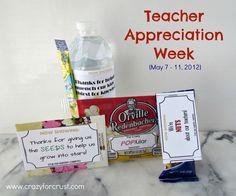 Teacher Appreciation Ideas {Free Printables} - Crazy for Crust