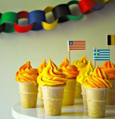 Olympic Party - Torch Cupcakes
