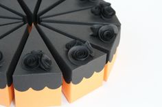 Halloween Favor Cake 12 Boxes by FolliesandVices on Etsy