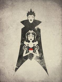 #snow white illustration#evil queen