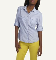 Feeling blue at Woolies Ww Online, Shirt Blouses, Shirts, Summer Feeling, Boyfriend Shirt, My Mom, Chambray, Mothers, Range