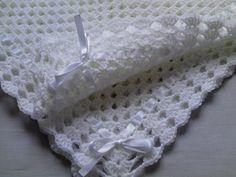 Crochet bebé manta gorro y botines Set regalo BAUTIZO
